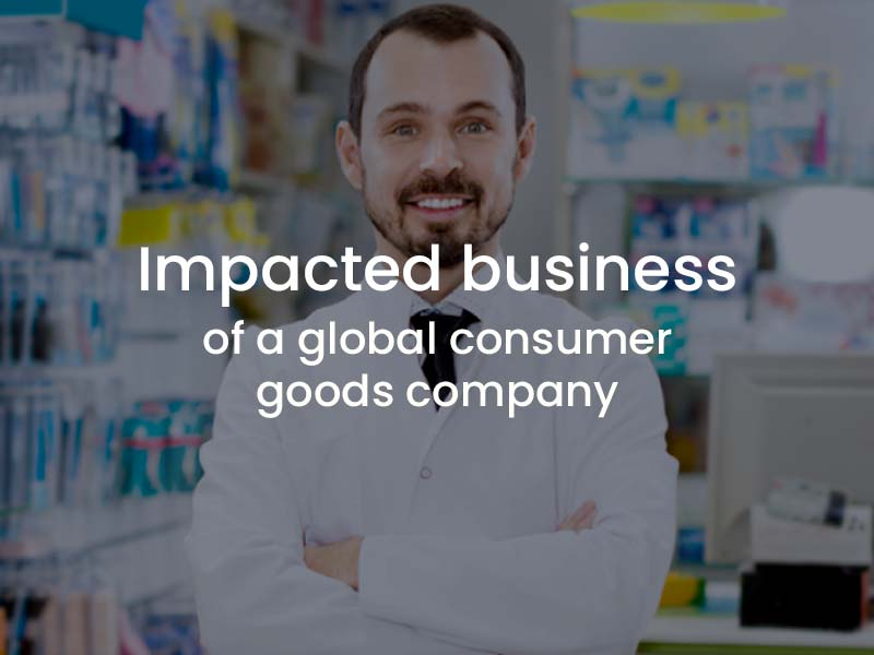 Impacted business of a global consumer goods company