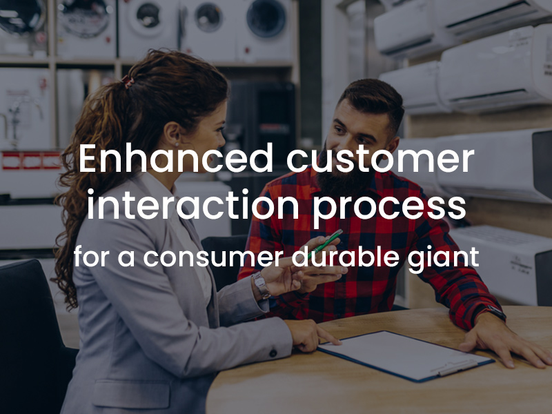 Enhanced the customer interaction process while creating customer delight for a consumer durable giant